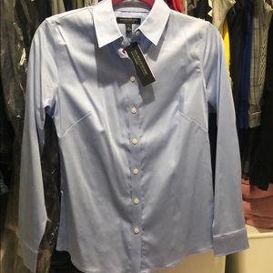 Petite Banana Republic blue button down with tags